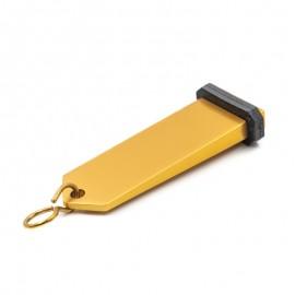 Porte clé d'hôtel socle rectangulaire couleur or