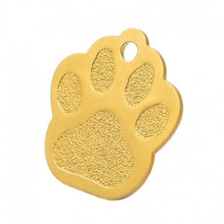 Médaille en forme de patte couleur or