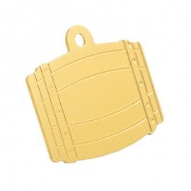 Médaille en forme de tonneau couleur dorée