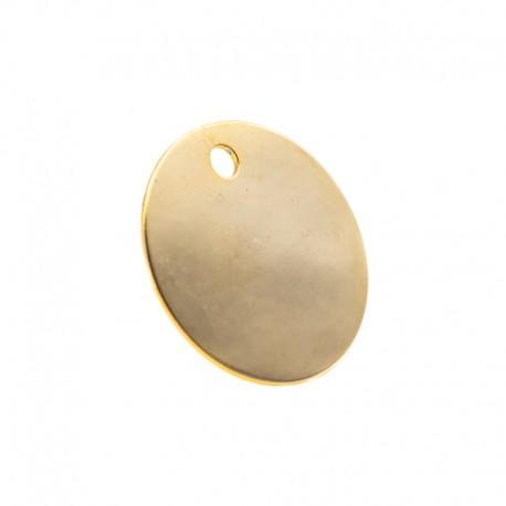 Médaille pour animal ronde laiton nickelé diamètre 22mm