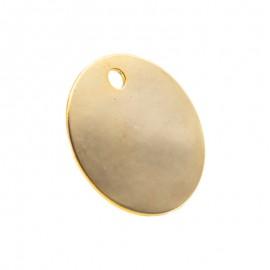 Médaille pour animal ronde diamètre 26 mm couleur dorée