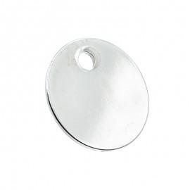 Médaille pour animal ronde diamètre 26 mm couleur argent