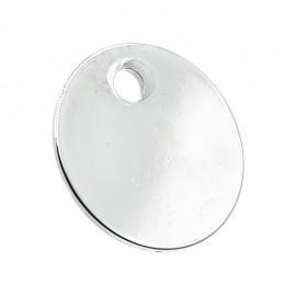 Médaille pour animal ronde diamètre 33mm couleur argent