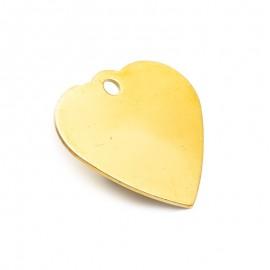 Médaille dorée en forme de coeur pour animal