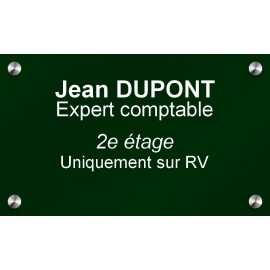 Plaque en aluminium vert 250 mm x 150 mm