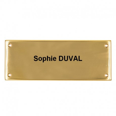 Plaque de porte rectangle unie
