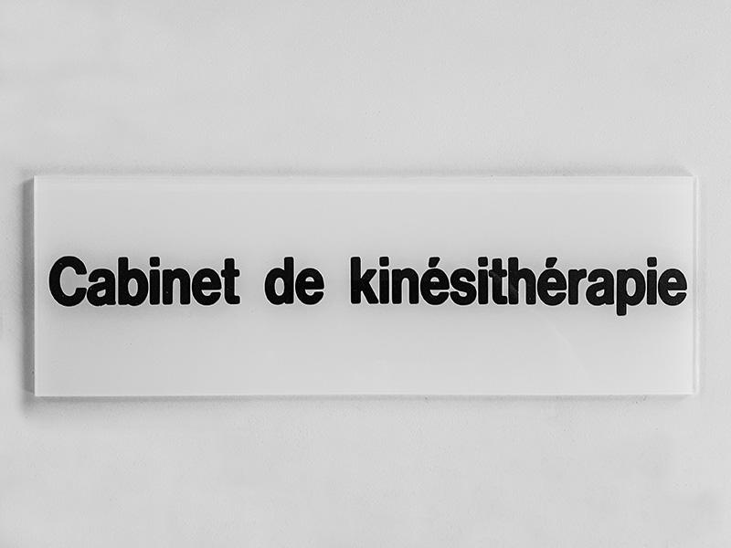 Plaque de kinésithérapeute